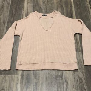 Pink Blouse with Cute Cut-Outs